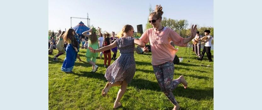 Большая поляна игр в Упсала-парке