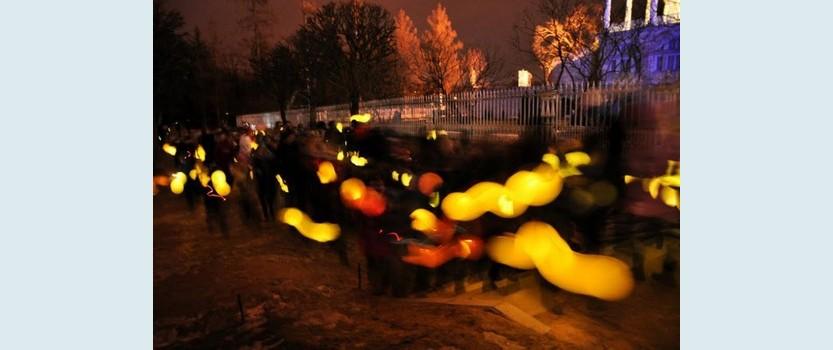 Зимний фестиваль света в Царском селе