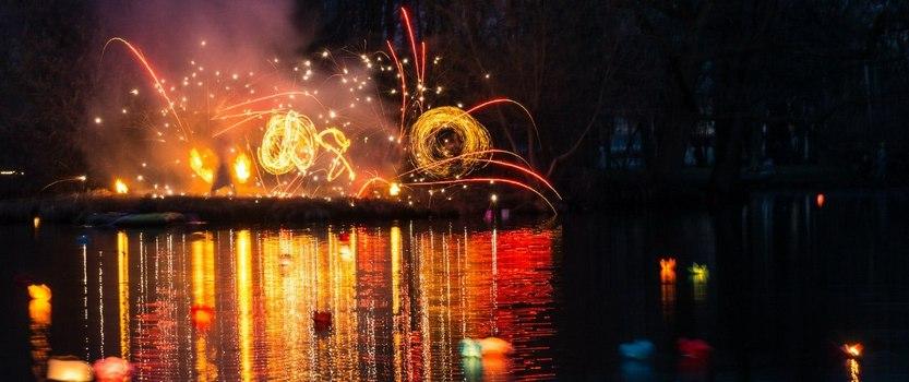 Фестиваль водных фонариков в Парке сказок