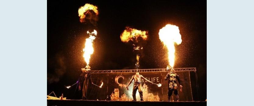 VII Международный фестиваль огненных искусств Живые Огни 2014