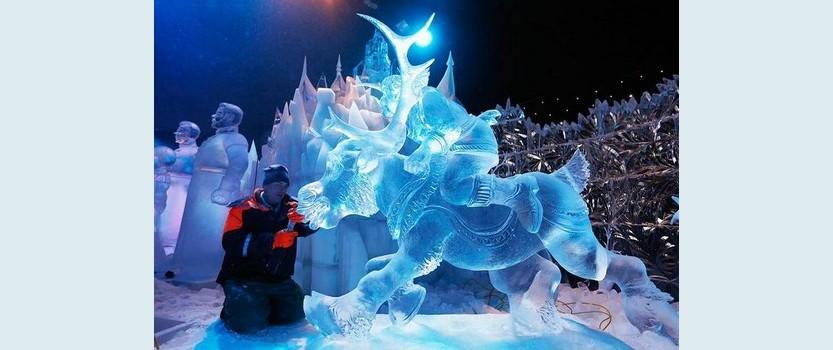 Выставка ледовых скульптур Ледяная сказка