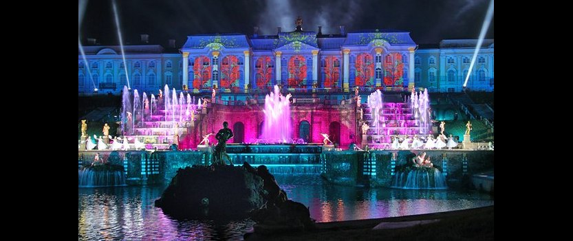 The opening of the fountains in Peterhof