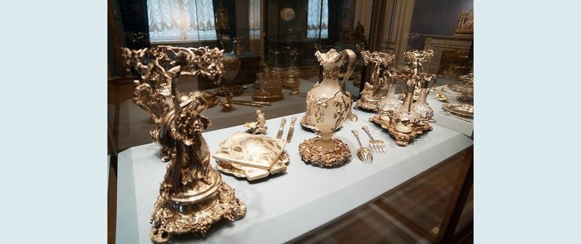 British silver exhibition at the Hermitage