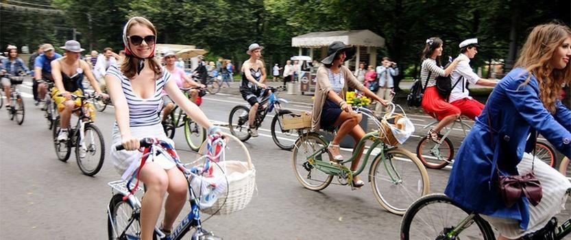 Большой велопарад в Петербурге