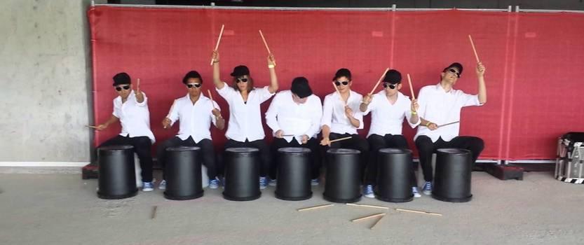 Первый барабанный флешмоб Drum Moб