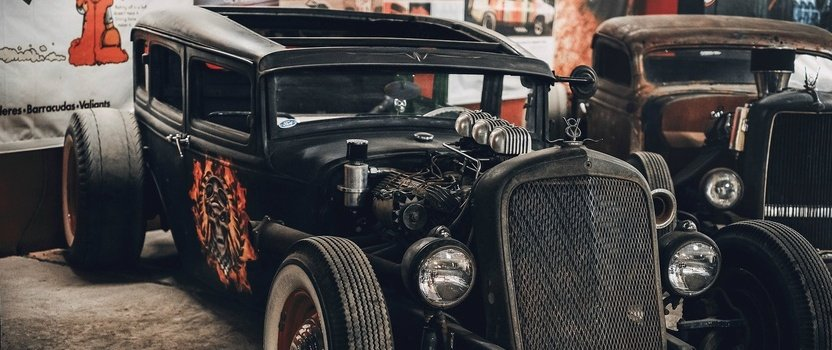 Retro Car Show Museum