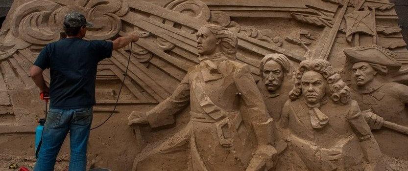 Масштабный ежегодный фестиваль песчаных скульптур в СПБ
