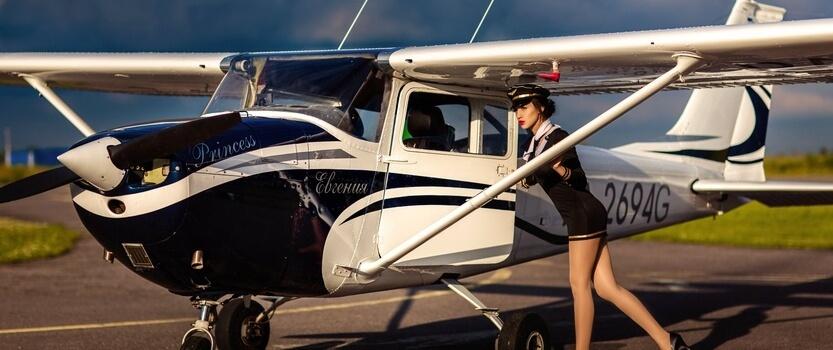 Полет за штурвалом самолета