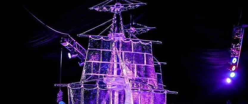 Фестиваль ледовых скульптур в Петропавловской крепости